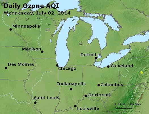 Peak Ozone (8-hour) - http://files.airnowtech.org/airnow/2014/20140702/peak_o3_mi_in_oh.jpg