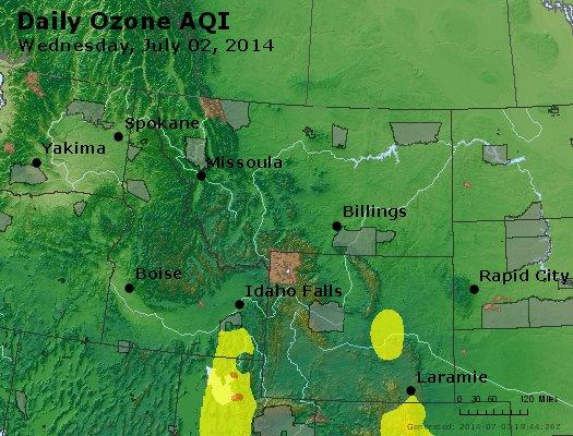 Peak Ozone (8-hour) - http://files.airnowtech.org/airnow/2014/20140702/peak_o3_mt_id_wy.jpg