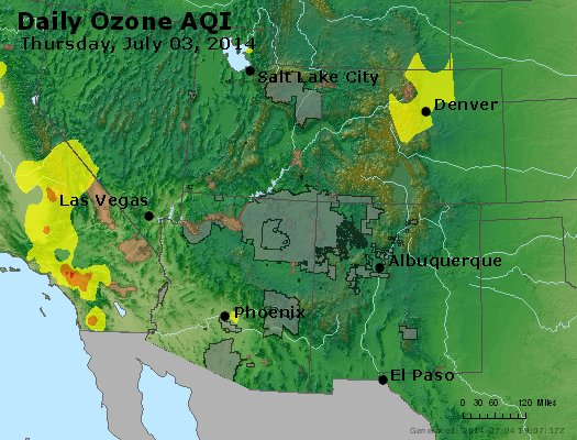 Peak Ozone (8-hour) - http://files.airnowtech.org/airnow/2014/20140703/peak_o3_co_ut_az_nm.jpg
