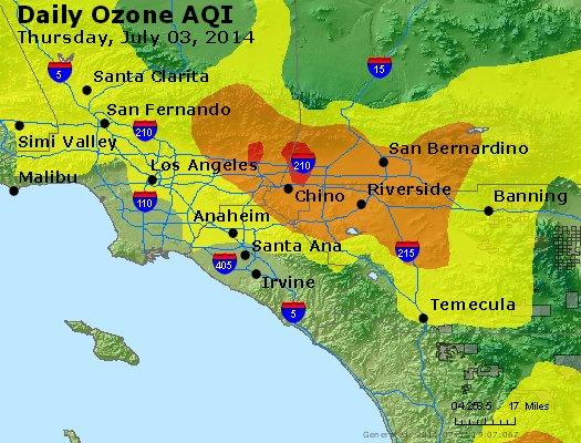 Peak Ozone (8-hour) - http://files.airnowtech.org/airnow/2014/20140703/peak_o3_losangeles_ca.jpg