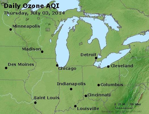 Peak Ozone (8-hour) - http://files.airnowtech.org/airnow/2014/20140703/peak_o3_mi_in_oh.jpg