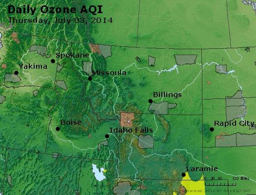 Peak Ozone (8-hour) - http://files.airnowtech.org/airnow/2014/20140703/peak_o3_mt_id_wy.jpg