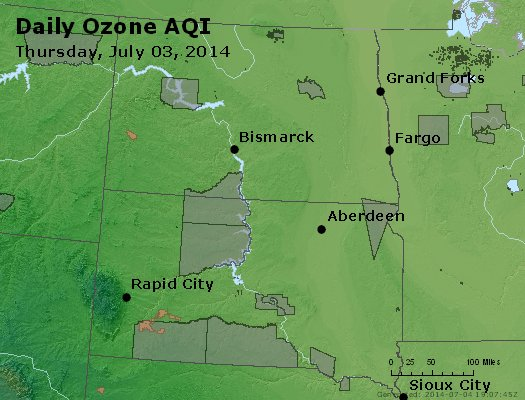Peak Ozone (8-hour) - http://files.airnowtech.org/airnow/2014/20140703/peak_o3_nd_sd.jpg