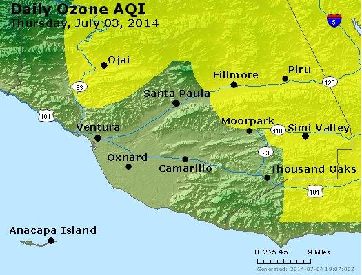 Peak Ozone (8-hour) - http://files.airnowtech.org/airnow/2014/20140703/peak_o3_ventura.jpg