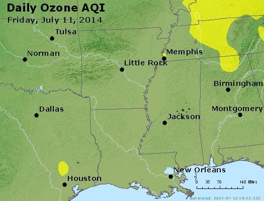 Peak Ozone (8-hour) - http://files.airnowtech.org/airnow/2014/20140711/peak_o3_ar_la_ms.jpg