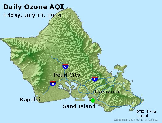 Peak Ozone (8-hour) - http://files.airnowtech.org/airnow/2014/20140711/peak_o3_honolulu_hi.jpg