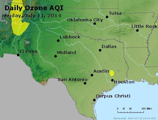 Peak Ozone (8-hour) - http://files.airnowtech.org/airnow/2014/20140711/peak_o3_tx_ok.jpg