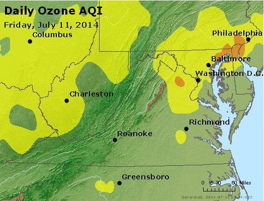 Peak Ozone (8-hour) - http://files.airnowtech.org/airnow/2014/20140711/peak_o3_va_wv_md_de_dc.jpg
