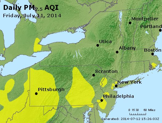 Peak Particles PM<sub>2.5</sub> (24-hour) - http://files.airnowtech.org/airnow/2014/20140711/peak_pm25_ny_pa_nj.jpg