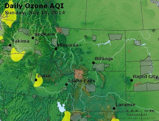 Peak Ozone (8-hour) - http://files.airnowtech.org/airnow/2014/20140713/peak_o3_mt_id_wy.jpg