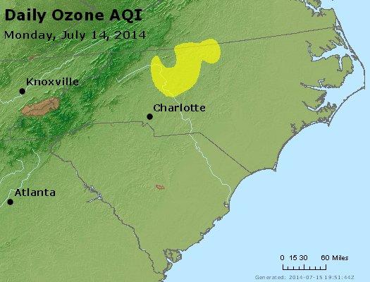 Peak Ozone (8-hour) - http://files.airnowtech.org/airnow/2014/20140714/peak_o3_nc_sc.jpg