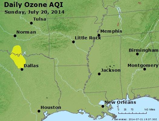Peak Ozone (8-hour) - http://files.airnowtech.org/airnow/2014/20140720/peak_o3_ar_la_ms.jpg