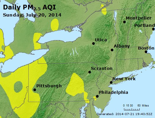 Peak Particles PM<sub>2.5</sub> (24-hour) - http://files.airnowtech.org/airnow/2014/20140720/peak_pm25_ny_pa_nj.jpg