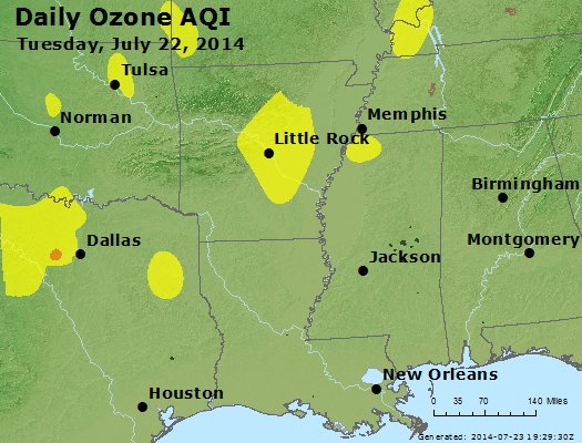 Peak Ozone (8-hour) - http://files.airnowtech.org/airnow/2014/20140722/peak_o3_ar_la_ms.jpg