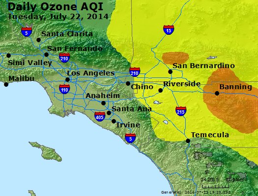 Peak Ozone (8-hour) - http://files.airnowtech.org/airnow/2014/20140722/peak_o3_losangeles_ca.jpg