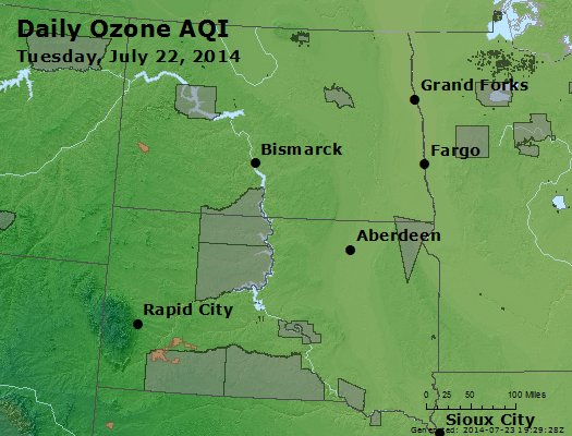 Peak Ozone (8-hour) - http://files.airnowtech.org/airnow/2014/20140722/peak_o3_nd_sd.jpg