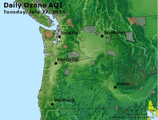 Peak Ozone (8-hour) - http://files.airnowtech.org/airnow/2014/20140722/peak_o3_wa_or.jpg
