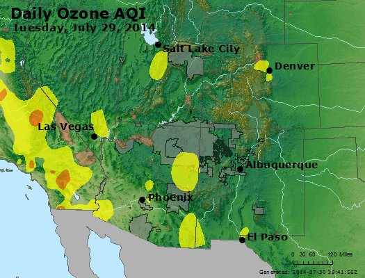 Peak Ozone (8-hour) - http://files.airnowtech.org/airnow/2014/20140729/peak_o3_co_ut_az_nm.jpg