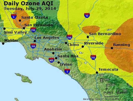 Peak Ozone (8-hour) - http://files.airnowtech.org/airnow/2014/20140729/peak_o3_losangeles_ca.jpg