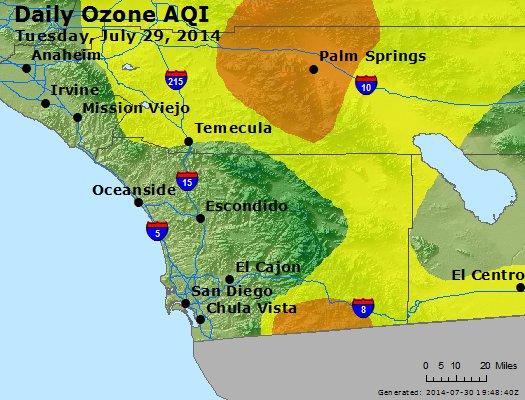 Peak Ozone (8-hour) - http://files.airnowtech.org/airnow/2014/20140729/peak_o3_sandiego_ca.jpg