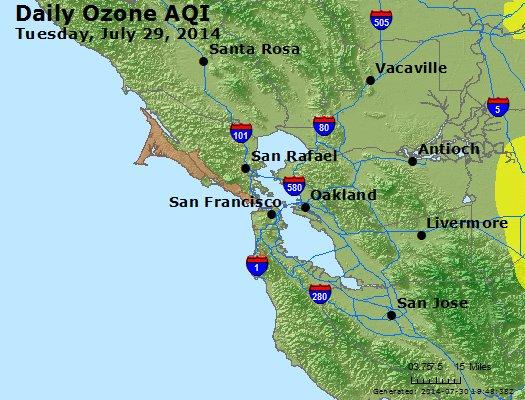 Peak Ozone (8-hour) - http://files.airnowtech.org/airnow/2014/20140729/peak_o3_sanfrancisco_ca.jpg