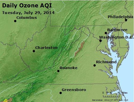 Peak Ozone (8-hour) - http://files.airnowtech.org/airnow/2014/20140729/peak_o3_va_wv_md_de_dc.jpg