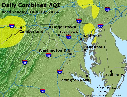 Peak AQI - http://files.airnowtech.org/airnow/2014/20140730/peak_aqi_maryland.jpg