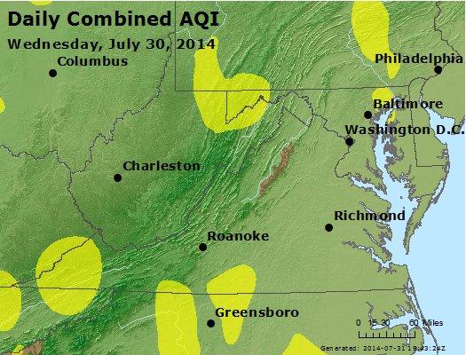 Peak AQI - http://files.airnowtech.org/airnow/2014/20140730/peak_aqi_va_wv_md_de_dc.jpg