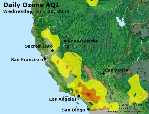 Peak Ozone (8-hour) - http://files.airnowtech.org/airnow/2014/20140730/peak_o3_ca_nv.jpg