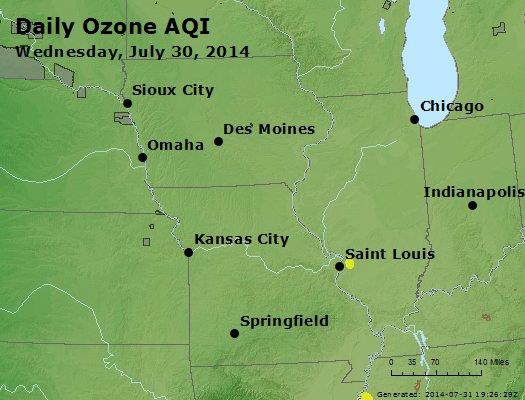Peak Ozone (8-hour) - http://files.airnowtech.org/airnow/2014/20140730/peak_o3_ia_il_mo.jpg