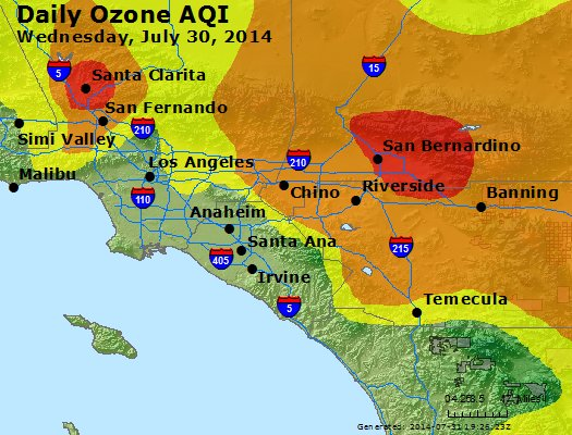 Peak Ozone (8-hour) - http://files.airnowtech.org/airnow/2014/20140730/peak_o3_losangeles_ca.jpg