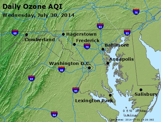 Peak Ozone (8-hour) - http://files.airnowtech.org/airnow/2014/20140730/peak_o3_maryland.jpg