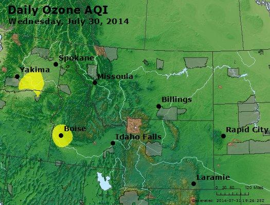 Peak Ozone (8-hour) - http://files.airnowtech.org/airnow/2014/20140730/peak_o3_mt_id_wy.jpg