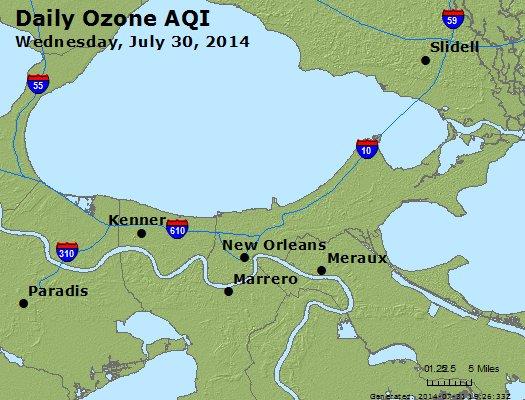 Peak Ozone (8-hour) - http://files.airnowtech.org/airnow/2014/20140730/peak_o3_neworleans_la.jpg