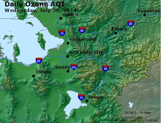 Peak Ozone (8-hour) - http://files.airnowtech.org/airnow/2014/20140730/peak_o3_saltlakecity_ut.jpg