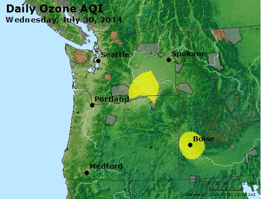 Peak Ozone (8-hour) - http://files.airnowtech.org/airnow/2014/20140730/peak_o3_wa_or.jpg