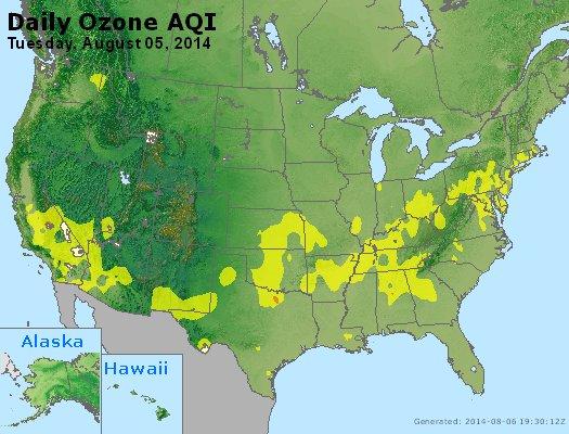 Peak Ozone (8-hour) - http://files.airnowtech.org/airnow/2014/20140805/peak_o3_usa.jpg