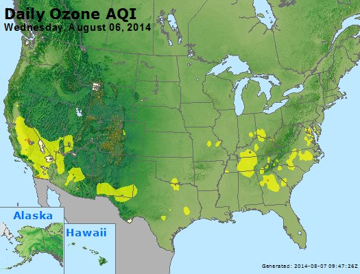 Peak Ozone (8-hour) - http://files.airnowtech.org/airnow/2014/20140806/peak_o3_usa.jpg