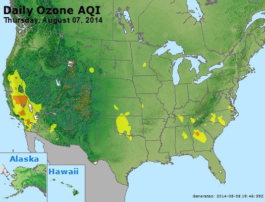 Peak Ozone (8-hour) - http://files.airnowtech.org/airnow/2014/20140807/peak_o3_usa.jpg