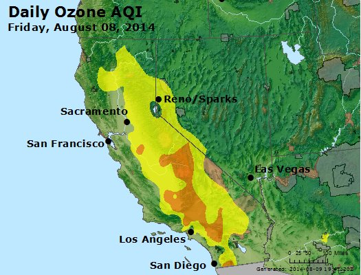 Peak Ozone (8-hour) - http://files.airnowtech.org/airnow/2014/20140808/peak_o3_ca_nv.jpg