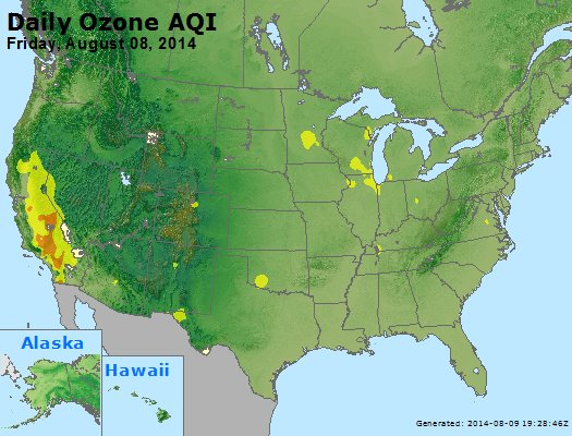 Peak Ozone (8-hour) - http://files.airnowtech.org/airnow/2014/20140808/peak_o3_usa.jpg
