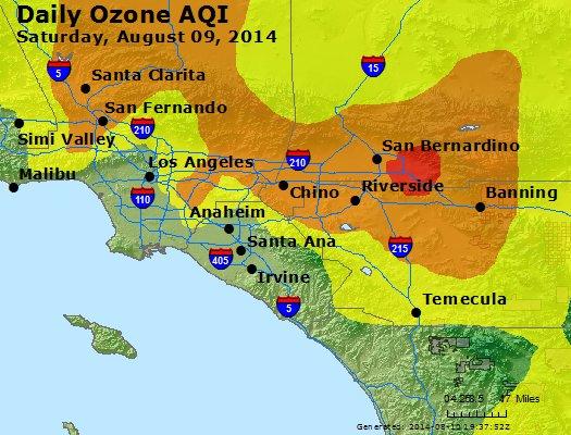 Peak Ozone (8-hour) - http://files.airnowtech.org/airnow/2014/20140809/peak_o3_losangeles_ca.jpg