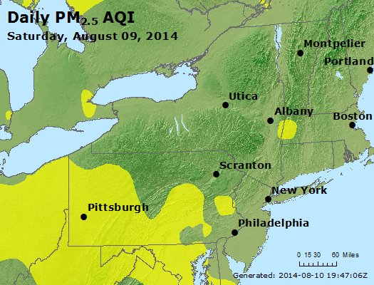 Peak Particles PM<sub>2.5</sub> (24-hour) - http://files.airnowtech.org/airnow/2014/20140809/peak_pm25_ny_pa_nj.jpg