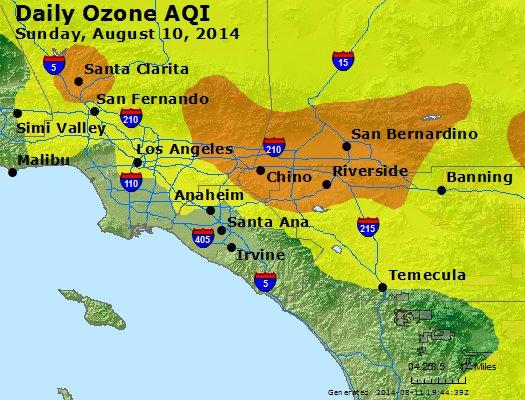 Peak Ozone (8-hour) - http://files.airnowtech.org/airnow/2014/20140810/peak_o3_losangeles_ca.jpg