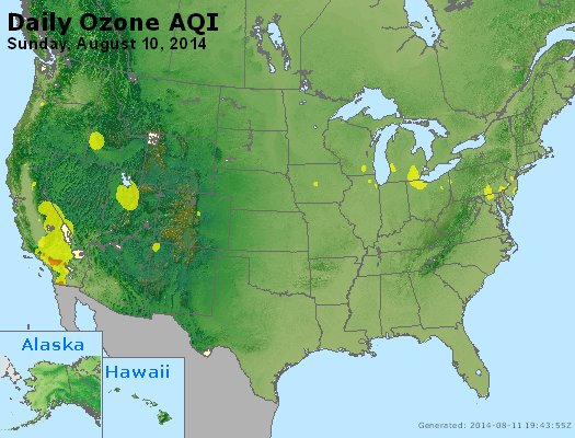 Peak Ozone (8-hour) - http://files.airnowtech.org/airnow/2014/20140810/peak_o3_usa.jpg