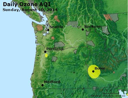 Peak Ozone (8-hour) - http://files.airnowtech.org/airnow/2014/20140810/peak_o3_wa_or.jpg