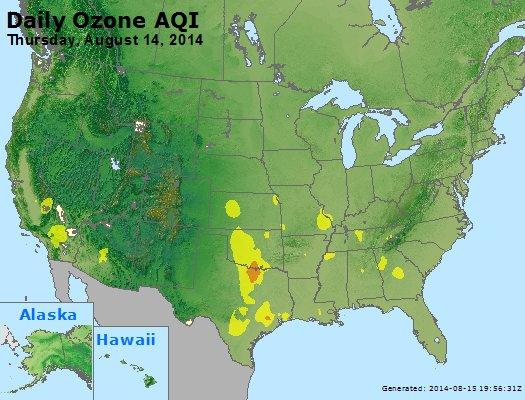 Peak Ozone (8-hour) - http://files.airnowtech.org/airnow/2014/20140814/peak_o3_usa.jpg