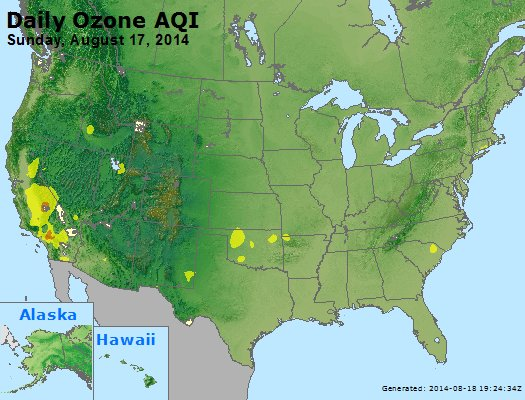 Peak Ozone (8-hour) - http://files.airnowtech.org/airnow/2014/20140817/peak_o3_usa.jpg