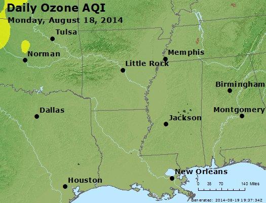 Peak Ozone (8-hour) - http://files.airnowtech.org/airnow/2014/20140818/peak_o3_ar_la_ms.jpg
