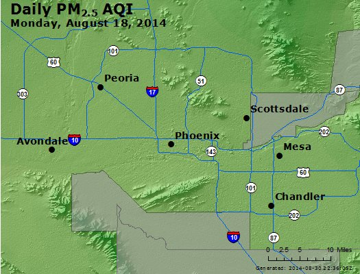 Peak Particles PM<sub>2.5</sub> (24-hour) - http://files.airnowtech.org/airnow/2014/20140818/peak_pm25_phoenix_az.jpg